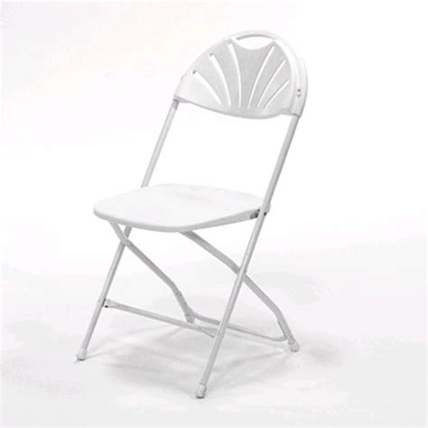white fan back samsonite folding chair rentals chesapeake