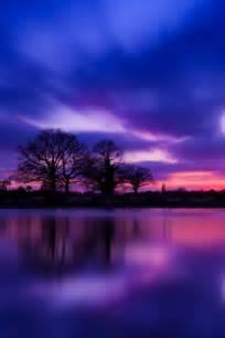 Beautiful Sunset Purple Color