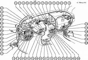 Position Of Parts In Instrument Panel Toyota Sienna 1997