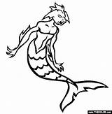 Merman Coloring Pages Template Cryptids Mermaid Sheets Thecolor Prince Eric sketch template