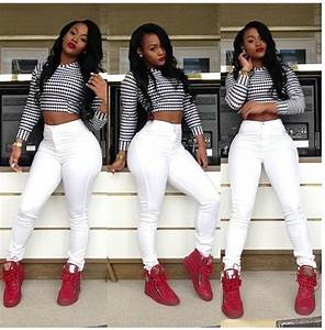 Jumpsuit red crop tops cropped sweater white jeans sneakers make-up blouse jeans shoes ...