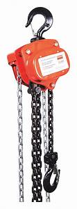 Dayton Manual Chain Hoist  2 000 Lb Load Capacity  20 Ft
