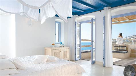 kitchen centre islands luxury suites villa royal blue at mykonos hotel