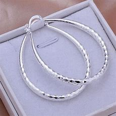 "Wholesale Sterling Solid Silver Fashion Twinkle ""u"" Hoop"