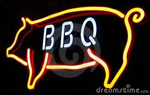 Barbeque Neon Sign Royalty Free Stock Image Image