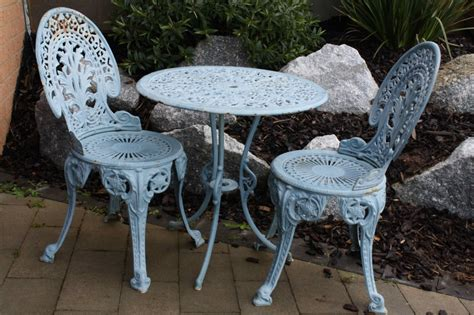 vintage 4 pc cast iron patio lawn set table ch vanityset