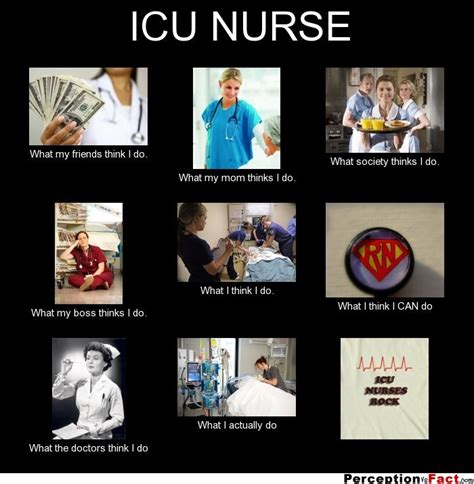 Icu Nurse Meme - icu nurse what people think i do what i really do perception vs fact