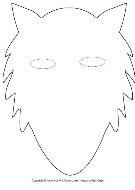 cut out templates wolf cute wolf mask template