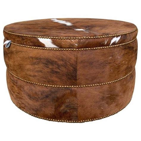 coffee table ottoman or bar upholstered in brown