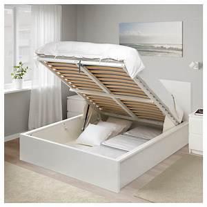 Lit Coffre Ikea : malm cadre lit coffre blanc 160 x 200 cm ikea ~ Teatrodelosmanantiales.com Idées de Décoration