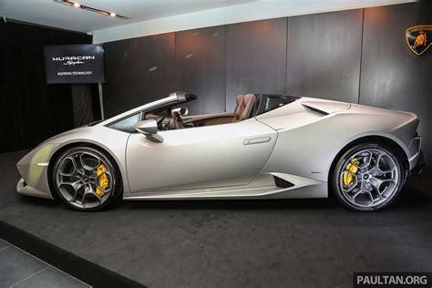 Lamborghini Huracan Spyder Now In M'sia, Fr Rm135m Paul