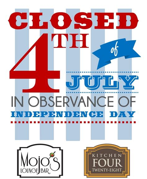 Closed For 4th Of July  Kitchen428 Restaurant & Mojo's Lounge. Excel Inventory Template With Formulas. San Diego State University Graduate Programs. Hold Harmless Letter Template. If It Doesn T Challenge You It Doesnt Change You. Junior White Dresses For Graduation. Incredible Data Analyst Sample Resume. Diabetic Meal Planner Template. Newsletter Templates Free Download