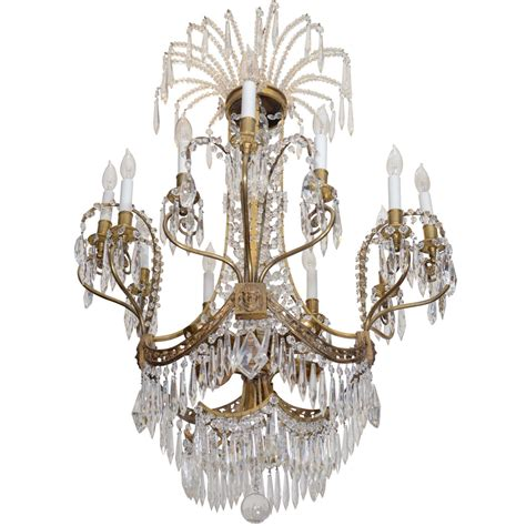 russian chandelier from the plaza hotel nyc for