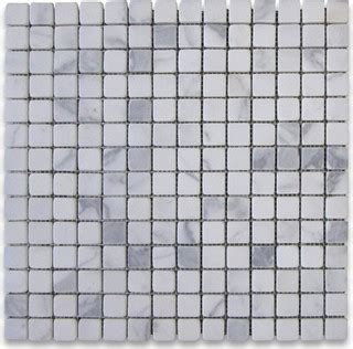 tile for kitchen floors pictures 12 quot x12 quot calacatta gold square mosaic tile tumbled chip 8489