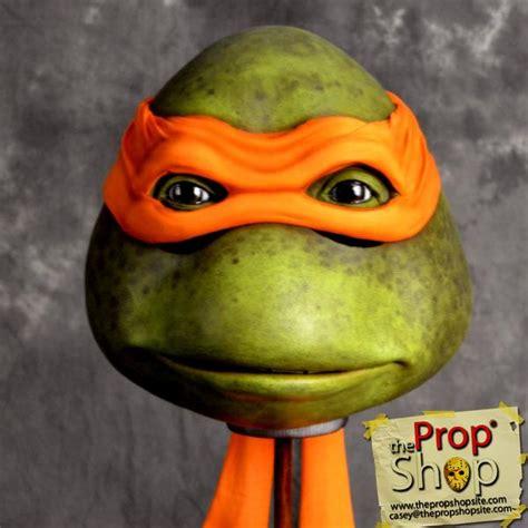 elite orange  turtle mask  prop shop costumes