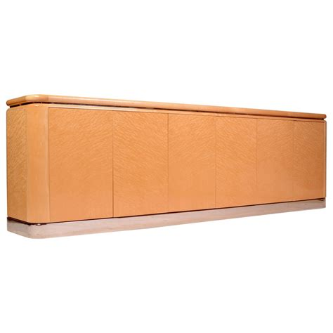 Maple Credenza - burl maple quot radial quot credenza by stanley friedman for