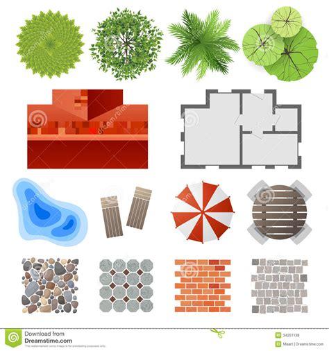 landscape design elements elements for landscape design stock vector image 34251138