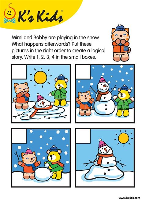 sequence pictures  story writing  printables