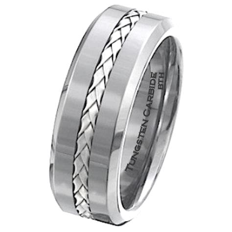 s 925 silver inlay tungsten carbide scratch resistant wedding engagement jewelry band ring
