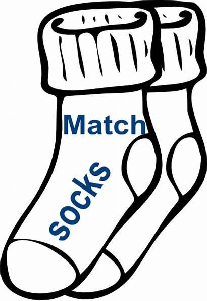 Socks Clip Match Chore Clipart Matching Cliparts