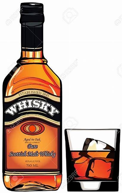 Whiskey Clipart Whisky Bottle Illustration Glass Vector