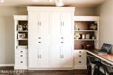 white murphy bed bookcase ana white modern farmhouse murphy bed and bookcase