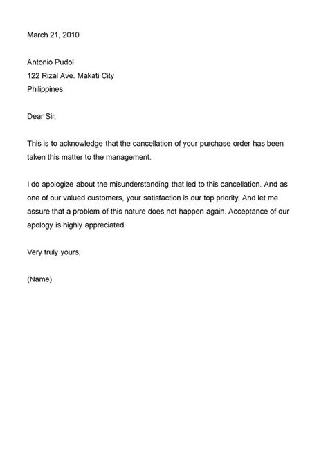 business apology letter  type  business apology