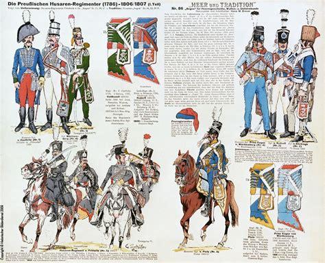 tavole dei colori colori delle uniformi degli ussari prussiani tavole