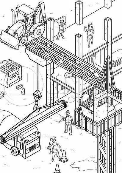Colouring Construction Pages Yard Coloring Site Printable
