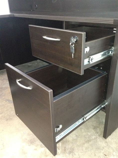 desk with locking drawers of4s promo l shaped manager 39 s desk with a locking box file