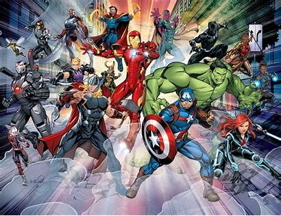 Avengers Wall Marvel Mural Peel Emma Rigg