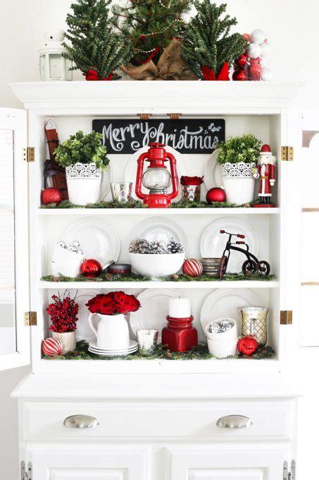 christmas hutch decor ideas   impress