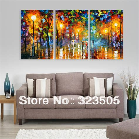 Wall Decor Canvas by 3 Panel Canvas Wall Abstract Modern Wall Deco