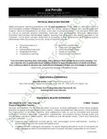 education in a resume format physical education resume sle page 1