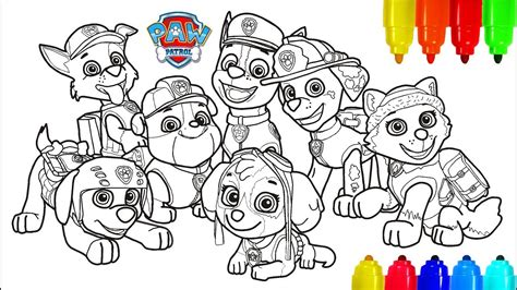 PAW PATROL # 4 Coloring Pages Colouring Pages for Kids