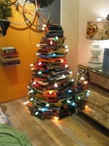 christmas tree made out of books interior design center inspiration