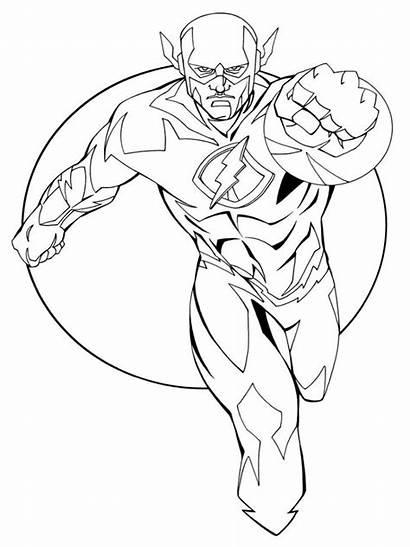 Flash Coloring Dc Comics Kid Printable Marvel