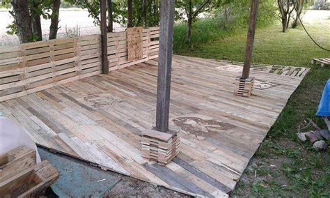 outside porch flooring pallet deck diy patio furniture