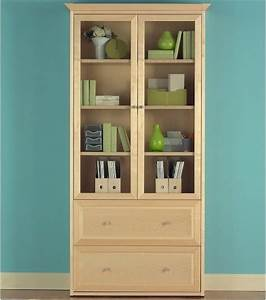 Jesper Wood Bookcase with Doors and Lateral File ...