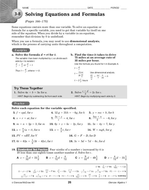holt algebra 2 chapter 7 test form a answers glencoe algebra 1 chapter 7 standardized test practice