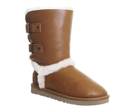 ugg boots on sale office ugg australia skylah boots chestnut leather ankle boots