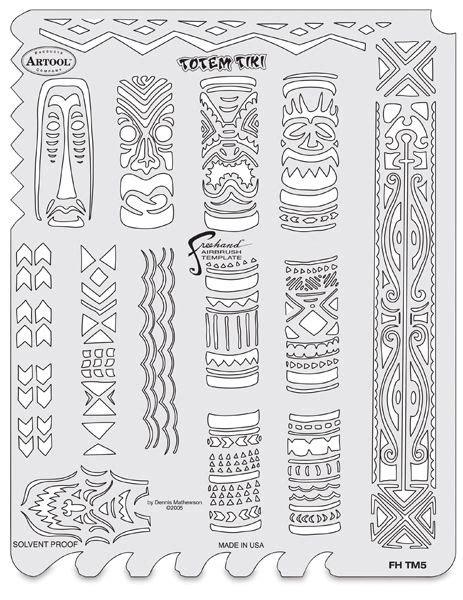 Tiki Totem Templates by Tiki Master Totem Tiki Template Stencils In 2018