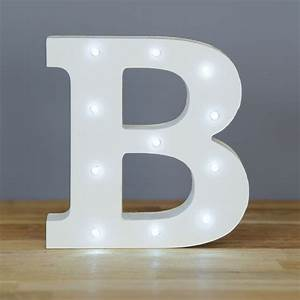 light up letter b home decor barbours With letter b home decor