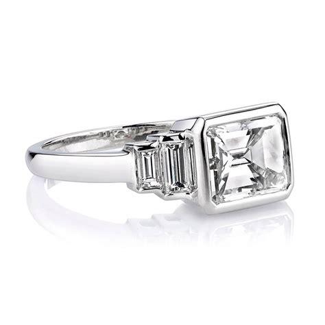 deco 2 40 carat cert emerald cut platinum