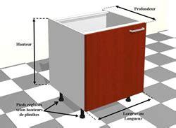 dimension caisson cuisine meuble de cuisine dimension standard idées de décoration intérieure decor