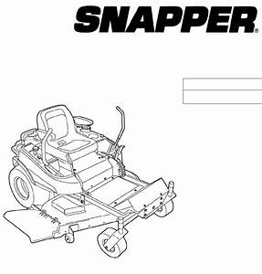 Snapper Lawn Mower 355z Series User Guide