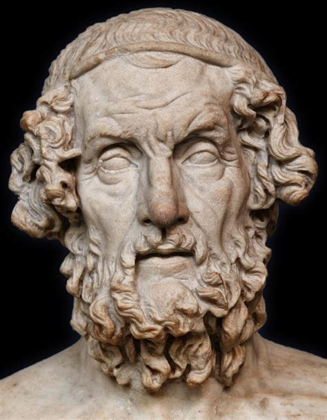 Bust Of Homer — Roman Copy Of Lost Greek Original, Ca 2nd