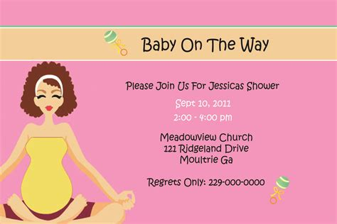 baby shower card template baby shower invitation card invitation templates