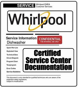 Whirlpool Adg 7500 Dishwasher Service Information Manual