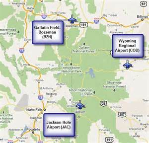 airports near yellowstone places 2 see